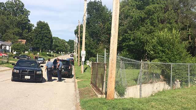A suspect dove into a sewer to try and escape police in Overland on July 15. Credit: KMOV