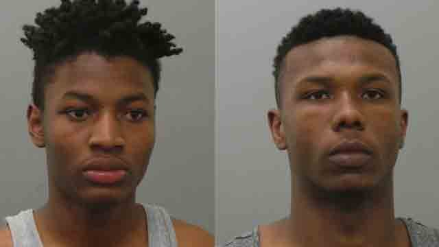 Christopher Taylor (left) and Jalen Hayes (right) allegedly robbed another student at Hazelwood Central High School. (Photo Credit: KMOV)