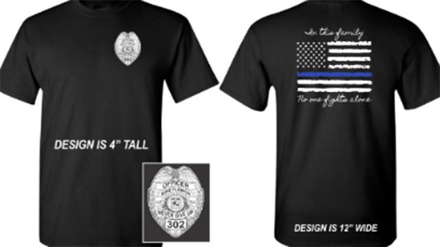 T-shirts are being sold to raise money for Ballwin Officer Mike Flamion (Credit: City of DeSoto)