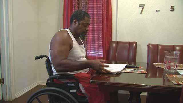 Charles Taylor is confined to a wheelchair, but when he applied for disability benefits, he was denied by the Social Security Administration. Credit: KMOV
