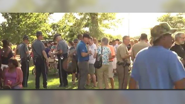 Black Lives Matters protest in Wichita, KS changed to cookout with police. (Credit: City of Wichita YouTube).