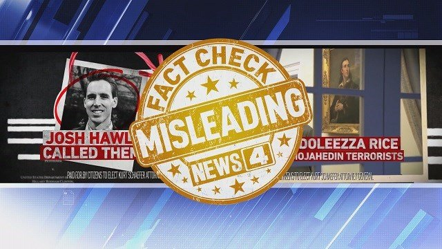 Fact check in ad run by State Senator Kurt Schaefer against Josh Hawley in the GOP primary for Missouri Attorney General (Credit: KMOV)