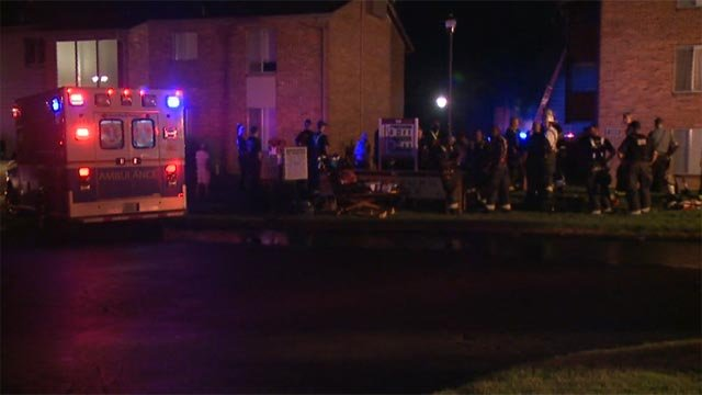 Firefighters were called to the Waterford Square Apartments in Florissant Wednesday (Credit; KMOV)