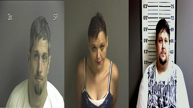 Jesse Chitwood, Jessica Franklin & John Townsend are charged in a federal indictment related to the identity theft ring (Credit: Franklin County Sheriff's Office).