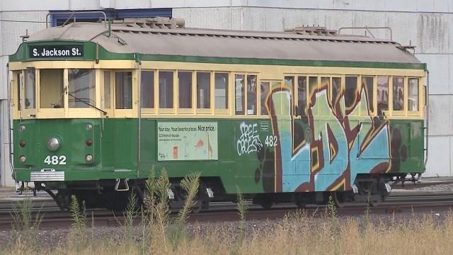 Delmar Loop Trolley vandalized (Credit: KMOV)