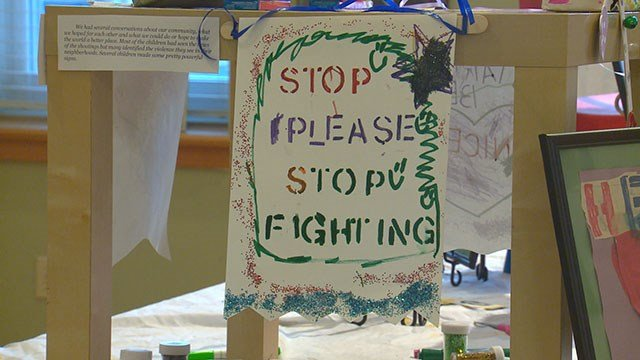 Artwork displayed at St. Louis Crisis Nursery to reflect plea for peace (Credit: KMOV).