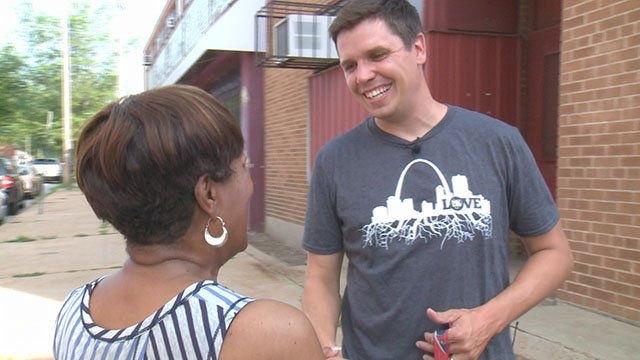 "Lucas Rouggly, landlord, pastor and staff member of ""Love the Lou."" (Credit: KMOV)"