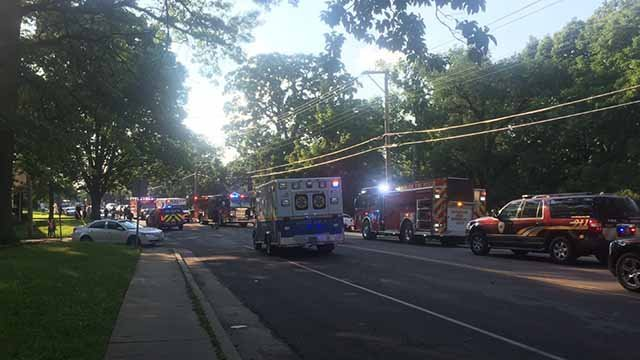 An accident near the intersection of Hord and College in Jennings caused several children to be injured on July 21. Credit: KMOV