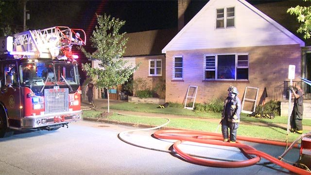 A man died after being trapped in a basement during a fire in the 4500 block of Prague (Credit: KMOV)