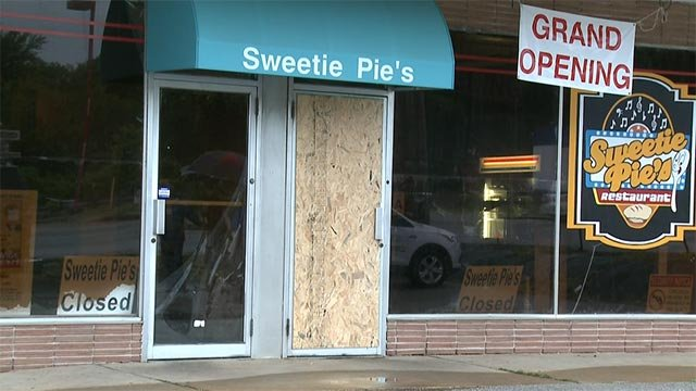 Sweetie Pie's in Dellwood was targeted in a smash-and-grab overnight (Credit: KMOV)