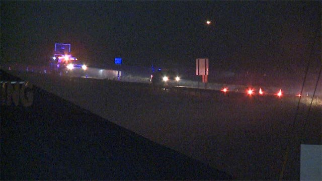 A pedestrian was struck and killed on I-55 near Pevely Monday night (Credit: KMOV)