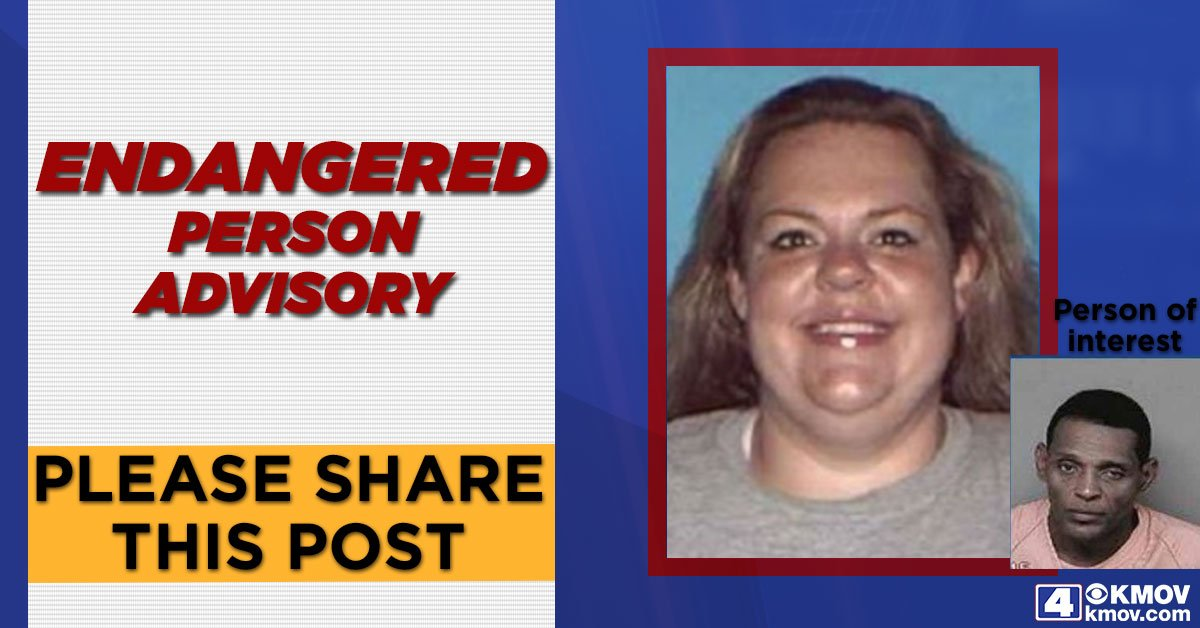 Police are searching for Kelly Clark, 30, from Jefferson City. Authorities believe she might be held against her will by her boyfriend. Credit: KMOV