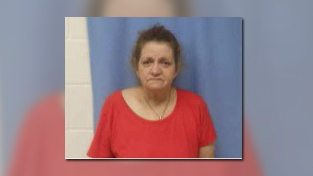 Linda Howard has been charged in connection to a church vandalism in Pike County. (Credit: KMOV and Pike County Sheriff's Office).
