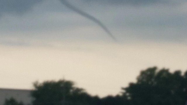 July 26, 2016 funnel cloud in St. Charles County. (Credit: KMOV).
