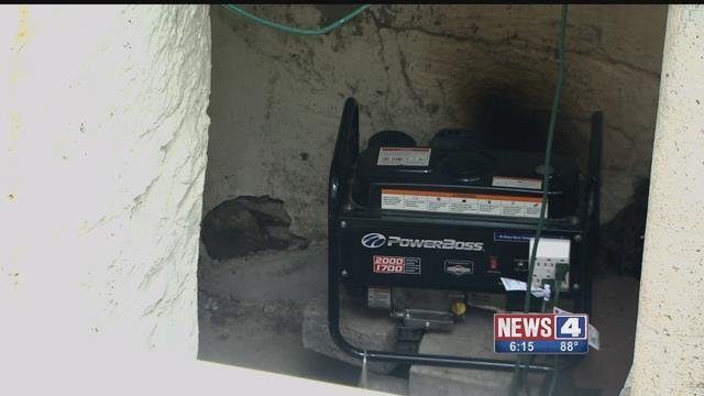 Erline Johnson says her neighbors are constantly running a noisy generator at their south St. Louis home. Credit: KMOV
