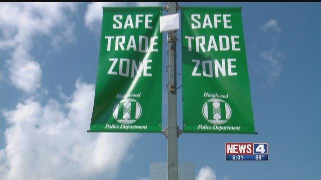 A Safe Trade Zone is being set up Hazelwood police for people to meet up for online transactions. Credit: KMOV