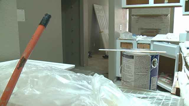 Thieves ransacked a home being remodeled in St. Charles and stole tools belonging to the company remodeling the home. Credit: KMOV