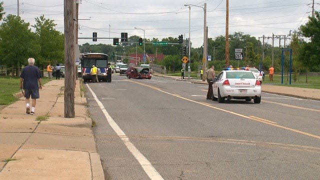 One person was run over by a Metro bus in south St. Louis Tuesday morning (KMOV)