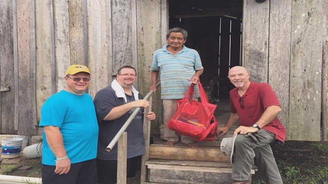 Members of First Assembly of God Church in Farmington, Missouri are working in Belize and find themselves in the path of Hurricane Earl (Credit: First Assembly of God Church).