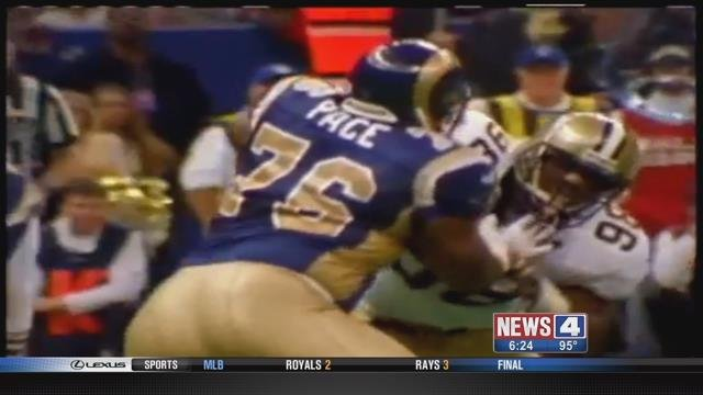 Rams Hall of Fame left tackle Orlando Pace. Credit: KMOV