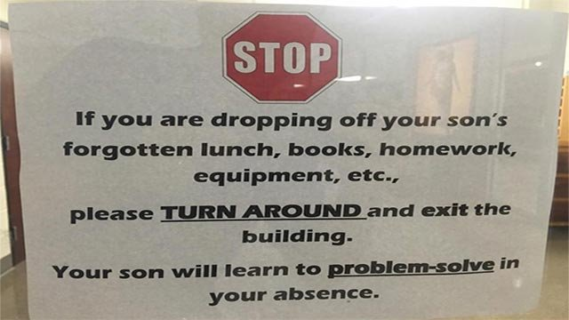 Arkansas school's 'problem solve' sign goes viral; sparks debate