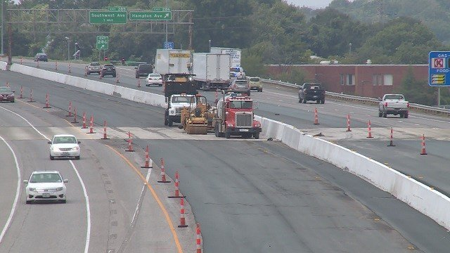 Construction on I-44 (Credit: KMOV).