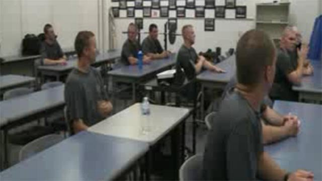 Police recruits in St. Charles County (Credit: KMOV)