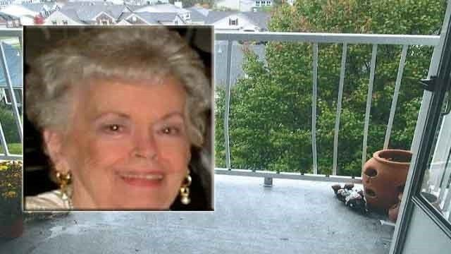 A view from the balcony where Shirley Neumann lived (Evidence photo obtained by KMOV)