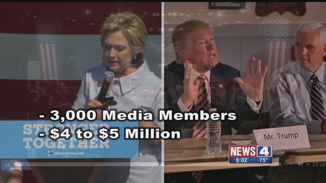Washington University officials believe it will cost between $4 million - 5 million to host the debate on Oct. 9 between Clinton and Trump. Credit: KMOV