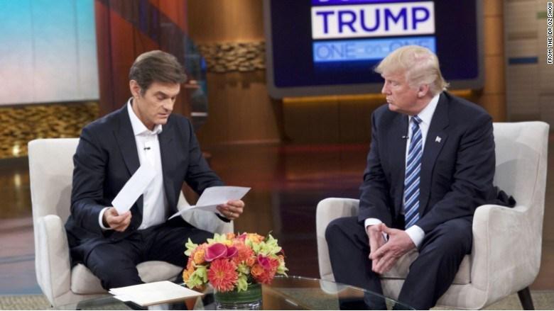 Trump on the Dr. Oz show (Credit: Dr. Oz Show)