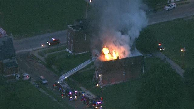 Firefighters were called to the area of Gano and Carter for the fire (Credit: KMOV)