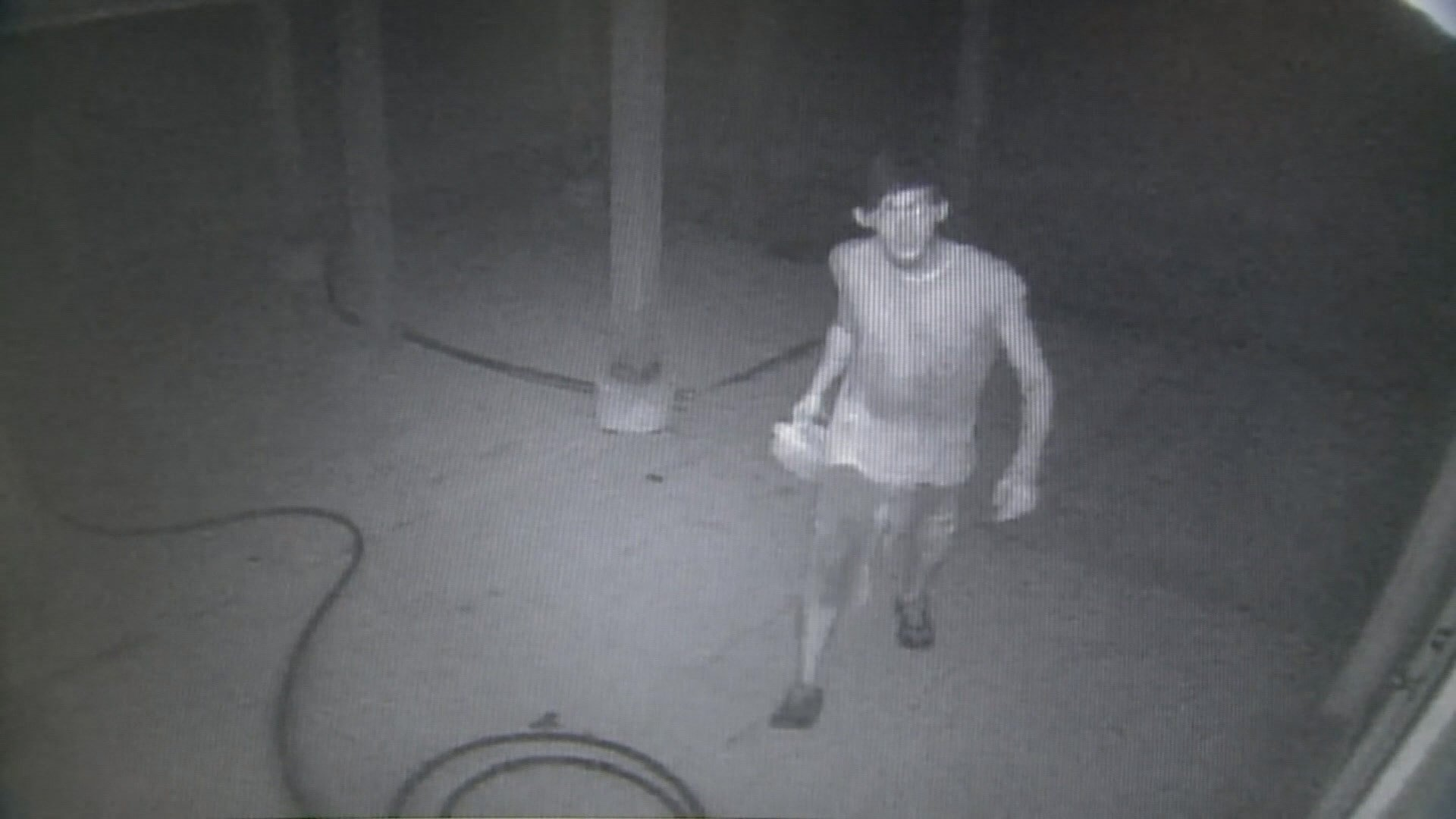 Suspect caught on camera outside Pevely Mayor Stephanie Haas' home (Credit: Pevely PD).