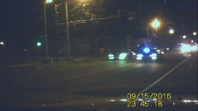 A suspect led Washington Park police on a speed chase in East St. Louis after an attempted robbery (Credit: KMOV).