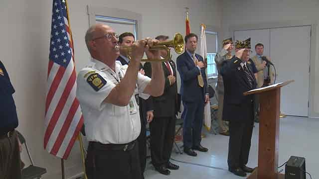 A ceremony was held at Jefferson Barracks Friday to honor troops who have gone missing in action or been taken prisoner. Credit: KMOV