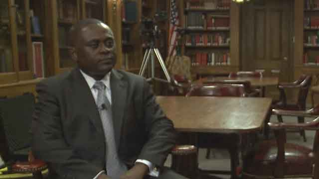 Doctor Bennet Omalu, who was portrayed by Will Smith in the movie Concussion, says it is not appropriate for anyone under age 18 to play football because of the contact nature of the sport. Credit: KMOV