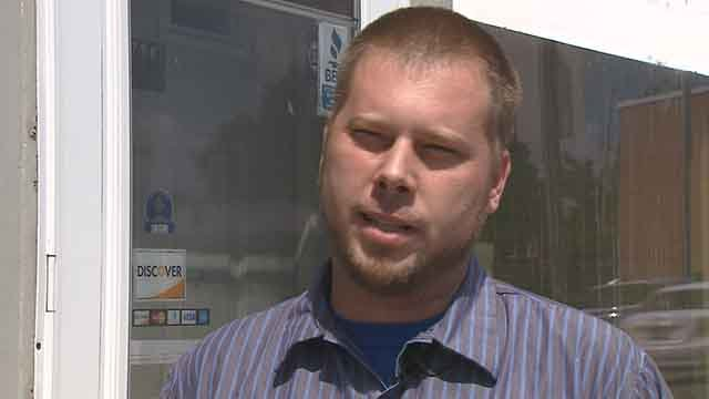 Jeffrey Vitt said a check written for his company's AC repair work at  Twittily Dittily Doo Childcare came from a closed account. Credit: KMOV