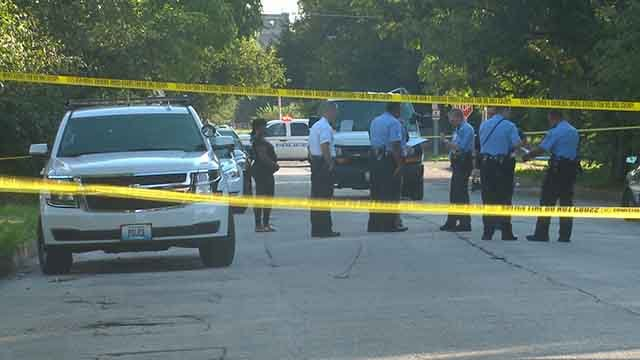 Two male victims were shot in the 2400 block of Bacon Saturday afternoon. Credit: KMOV