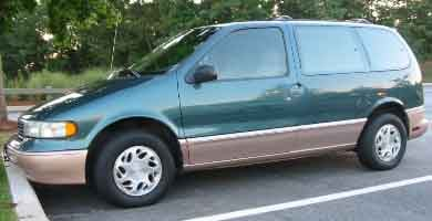 Police believe the two could be with Christopher M. Derleth in a  green 1997 Mercury Villager Minivan like the one pictured, and may be en-route to West Virginia. Credit: Edwardsville PD