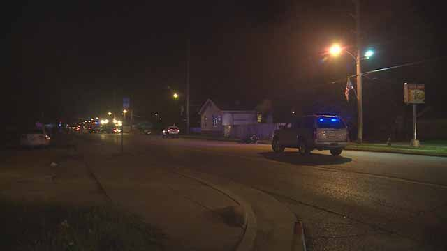 A motorcyclist was killed in a hit-and-run accident in Washington Park Monday night. Police the car involved was a red Ford Taurus or Escort. Credit: KMOV