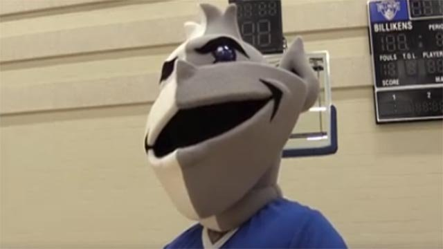 Billiken mascot's new look (Credit: St. Louis University / Facebook)
