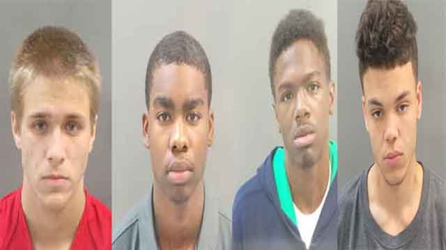 Xavier Perkins, Jermaine Stabler, Ronald Harris and Damonte Dixon are facing  multiple charges, including murder in connection to the fatal shooting of Monica Shaw. Credit: SLMPD