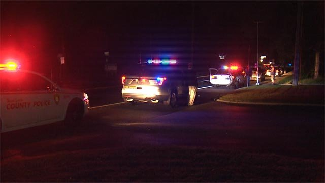 Police on the scene after a woman was hit by a vehicle on Highway 231 Thursday (Credit: KMOV)