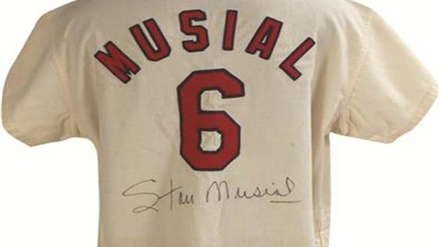 1963 Stan Musial St. Louis Cardinals Last Game Jersey (Credit: Lelands)