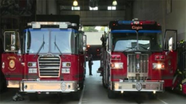 Firetrucks (Credit: KMOV)