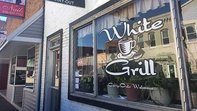 Festus police are searching for the robber who held up the owner of the White Grill in the 200 block of Main Street as she opened for breakfast at 4:15 a.m. Monday. Credit: KMOV