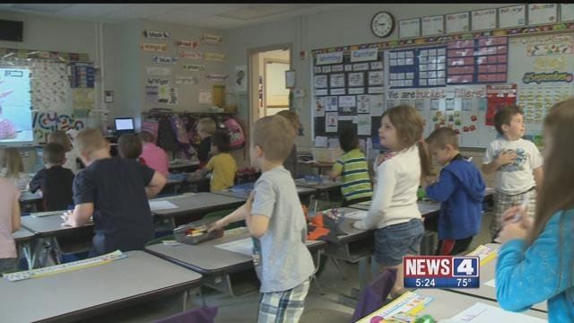 A number of students at Sappington Elementary are going to a middle school because of overcrowding. Credit: KMOV