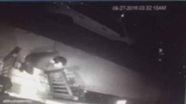 This man was caught on camera following two women to the doors of their homes in Soulard Tuesday. Credit: KMOV