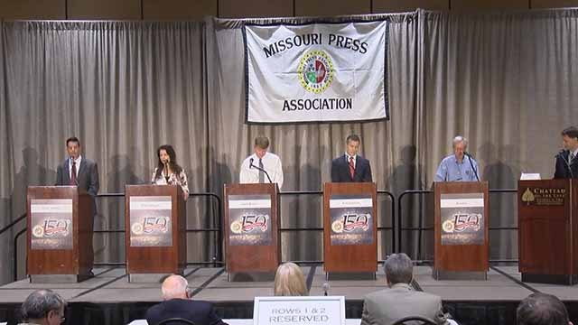 The candidates for Missouri Governor faced off in a debate in Branson Friday. Credit: KMOV