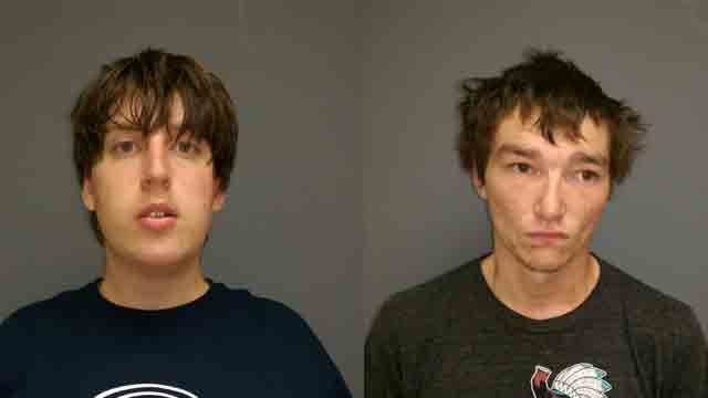 Baker (left) and Holtmeyer (right) have been charged with tampering with a motor vehicle in the first degree.  (Photo: Washington Police Department)