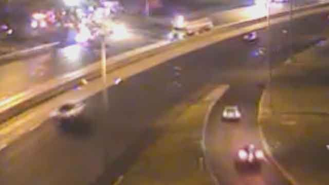 Police are investigating an overnight fatal accident on northbound I-55 in Carondalet. (Credit: KMOV).